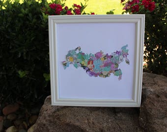"Custom 10""X10"" Bloomin' Print Country/State"