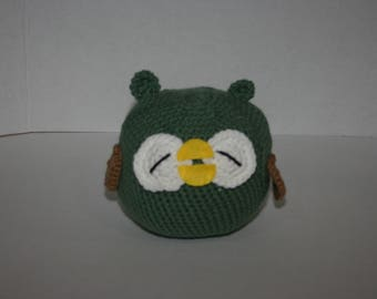 Green Plush Owl