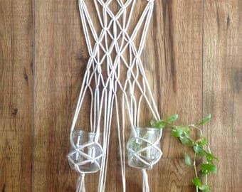 Macrame & Driftwood 3 cup plant rooter