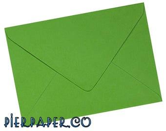 50 x C6 Fern Green Gummed 100gsm Greetings Card Envelopes - 114 x 162mm