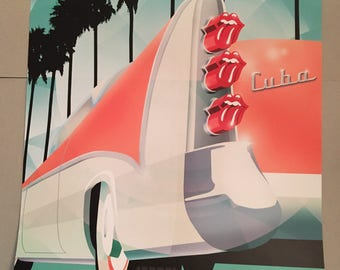 Official Rolling Stones Havana Cuba 2015 Lithograph