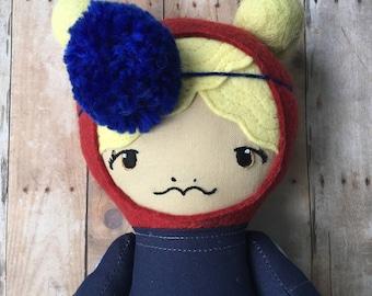 """SALE Sarah - 17"""" Heirloom Doll - Cloth Rag Doll"""