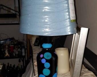 Painted bottle lamp