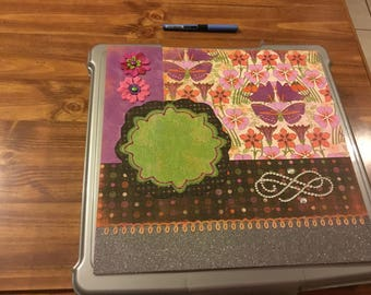 12 x12 Purple and Green Single Page Layout
