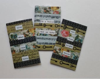 Handmade Bookmarks with Decorative Tabs
