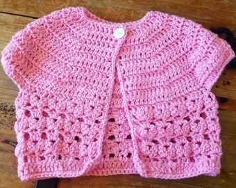 Girl's Cropped Cardigan