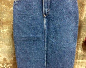 Vintage Highwaisted Long Jean Wrangler Skirt