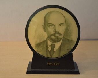 Soviet Russian Lenin cabinet portrait picture photo USSR