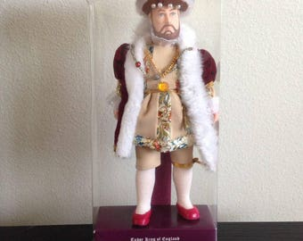 King Henry VIII doll, Tudor King of England, Majestic Court Costume