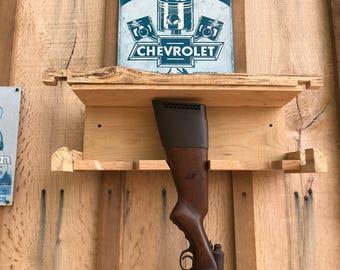 rustic wooden gun rack, gun rack, wood gun rack