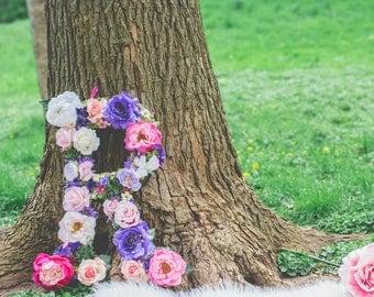 Handmade Floral Letter R