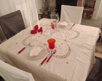 Round tablecloth 8 seats
