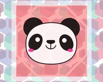 Digital  Panda Art Print