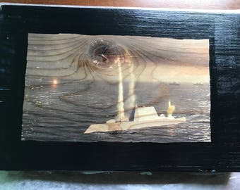 Add any picture to wood.