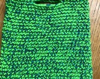 iPad Holder or Tote Bag Bright Green and Mixed  Colors
