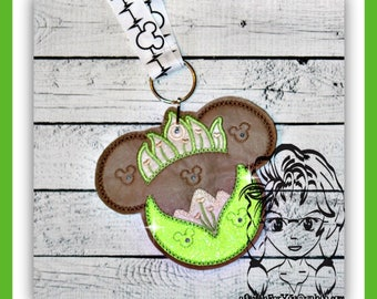 FROG Princess Fairytale Pin Lanyard Display Mouse HeaD Trader ~ ITH Mr Miss Mouse Inspired Photo Prop ~ INSTANT Download Design by Carrie