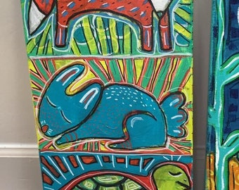 Totem- Mixed Media CritterPainting