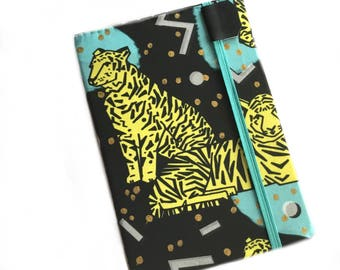 Kindle Paperwhite cover -  - Retro Tigers - tiger print eReader case - hardcover - kindle touch - 80s