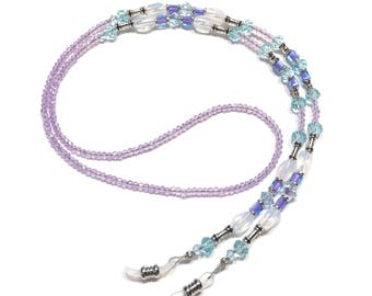 Light Purple Eyeglass Chain Beaded