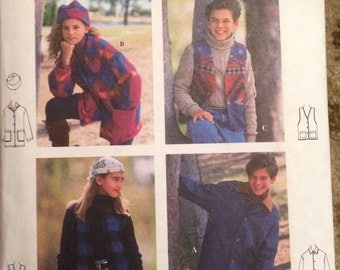 Simplicity Sport 9147 Pattern-Boys and Girls Jacket, Vest and Hat Pattern-Size AA-7,8,10-New and uncut