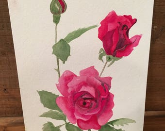 Roses Original Watercolor