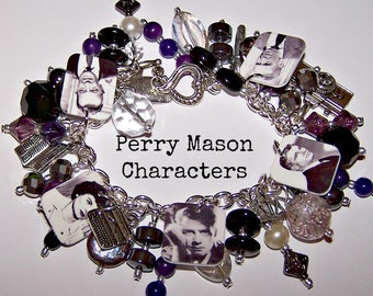 PERRY MASON CHARACTER Mystery Charm Bracelet
