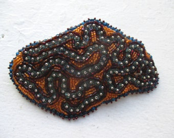 Parasite Bead Embroidered Barrette- on Sale