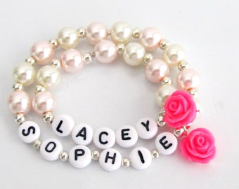 Girl and Doll Jewelry,Me & My Doll Personalized Name bracelet set,American Girl Bracelet,Matching Girl and Doll Jewelry,Free Shipping In USA