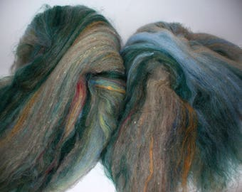 Multi Fibered Batts for Hand Spinning Yarn