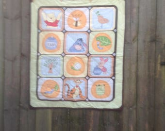 Winnie the Pooh and Friends Baby Quilt FREE SHIPPING