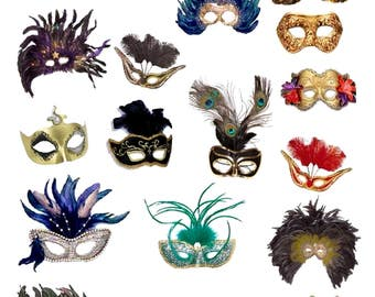 Masquerade - Digital Collage Sheet - Instant Download