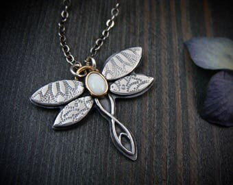 carry my soul … opal dragonfly pendant