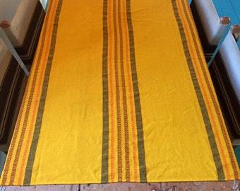 Vintage Tablecloth/ Woven Tablecloth/ Vintage Linen/ Woven Linen