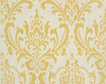 CLEARANCE - Premier Prints Traditions Corn Yellow Linen Home Decorating Fabric By The Yard