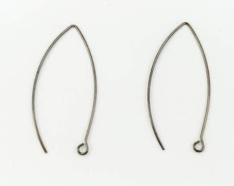 45mm Gunmetal Modern Ear Wire #EFC102