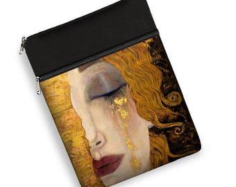 Women's 13 inch laptop sleeve with zipper pocket laptop case 13.3 macbook pro laptop bag Acer Aspire HP Spectre Freya's Tears Klimt  MTO