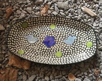 Carved Porcelain Modern Tray Dish
