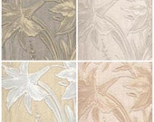 Textured wallpaper sample, lily wallpaper piece, 4 colors, each piece 14 x 18 inches