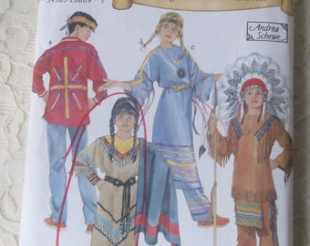 Simplicity 5448 Historic Young Native American Dress, Sizes 3-8 for Children