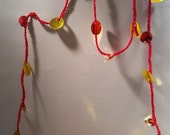 Sparkling Red and Gold Sequin Garland