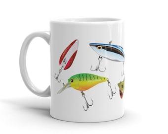 Fishing Lures Mug - Fishing Coffee Mug- Sportsman Mug - Gifts for Dad - Mug - Hobby Mug - Gift for Fishermen - Coffee Mug for Him