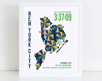 Personalized New York City Marathoner Map