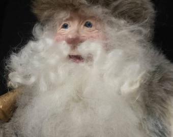 Santa dressed in fur!