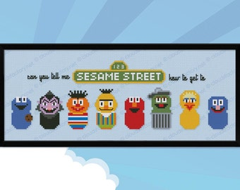 Sesame Street parody - Cross stitch PDF pattern