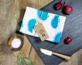 Organic Cotton Hedgehog Towel - Teal