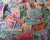 100. Vintage, USED, International and USA Postage Stamps. Lovely, Used, STAMPS.