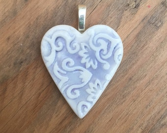 Jacquard pendant in lilac