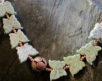 Stone Butterfly Bracelet