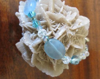 Blue Kyanite type stone and Crystal Bracelet