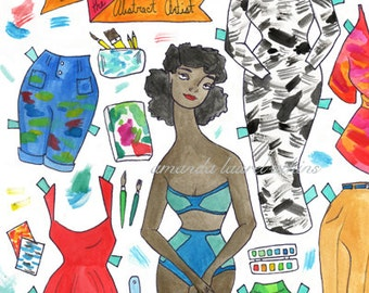 Anastasia the Abstract Artist paper doll
